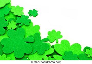 St Patricks Day shamrock border - St Patricks Day shamrock...