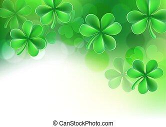 St Patricks Day Shamrock Clover Background