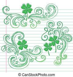 St Patricks Day Shamrock Doodles
