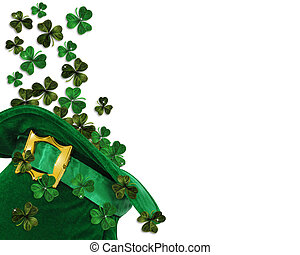 St Patricks Day shamrocks - 3D Illustration for St Patricks...