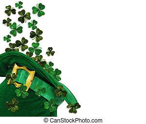 St Patricks Day shamrocks - 3D Illustration for St Patricks ...