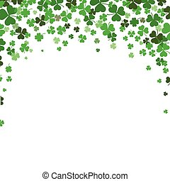 St. Patricks Day Shamrocks Background Cover