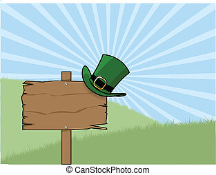 st patricks day sign post