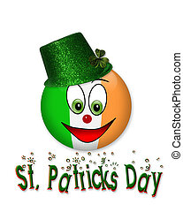 St Patricks Day Smiley icon