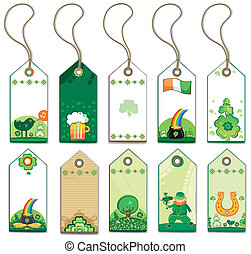 St. Patrick's Day tags.