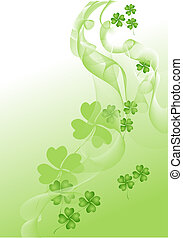 This is a decorative background on St. Patrick's Day