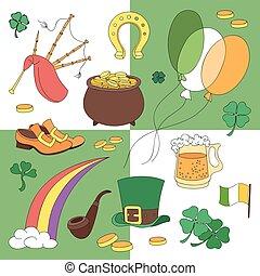 St. Patricks Day vector design elements set