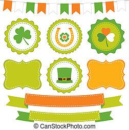 St. Patrick's Day vector elements set