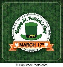 St. Patricks Day Vintage Cover Big Emblem