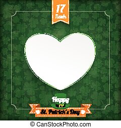 St Patricks Day Vintage Cover Heart