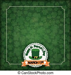 St. Patricks Day Vintage Cover - Vintage cover with for St. ...