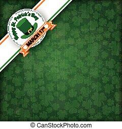 St. Patricks Day Vintage Edge Banner Emblem