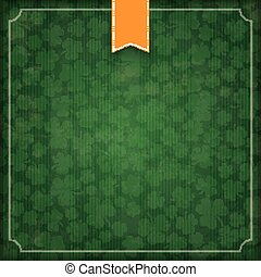 St. Patricks Day Vintage Empty Cover Flag