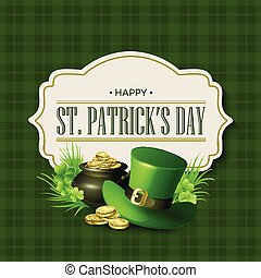 St. Patricks Day vintage holiday badge design. Vector ...