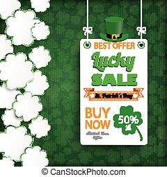 St Patricks Day Vintage Shamrocks Board Sale