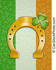 St. Patrick's Day with flag of Ireland