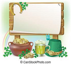 St. Patricks Day wooden board