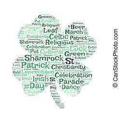 St. Patrick's day word cloud
