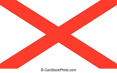 The red cross flag of St. Patrick associated with Northern Ireland