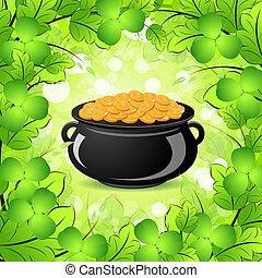 Patricks chiodo di garofano giorno calderone st - St patricks giorno fogli di colore giorno ...