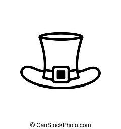 st. patrick's hat icon vector design template