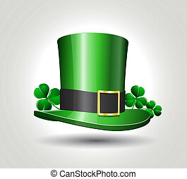 St. Patrick's hat with clover
