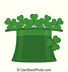 St Patrick's hat with clover