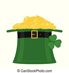 St. Patrick's hat with gold