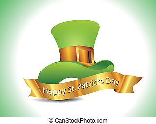 St Patrick's hat with golden ribbon