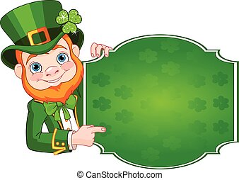 St. Patrick's Leprechaun - Illustration of St. Patrick's Day...