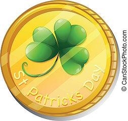 st., patrick's, símbolo, dia