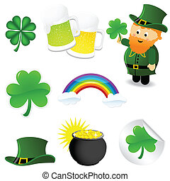 St patrick's day icon set