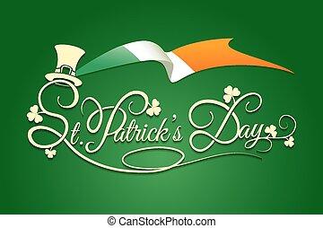 st patricks-tag, hintergrund, mit, fahne, von, irland
