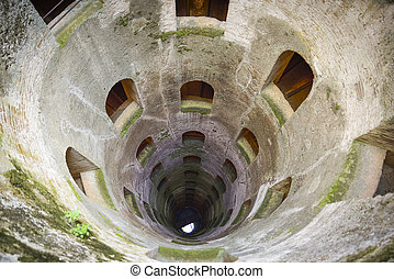 St. Patrick's well, Orvieto, Italy. Historic well. Great engineering work, carried out in 1547.