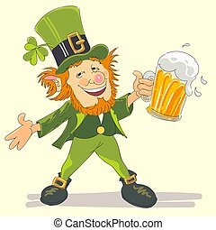 st Patricks with beer