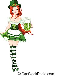 St. Patrick%u2019s Day girl - Illustration of St....