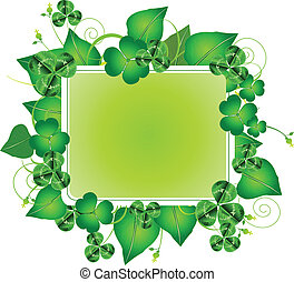 Three leafed clover frame for St. Patricks Day