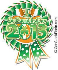 St Pats Day Rosette 2013