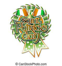 St Pats Day Rosette Graphic