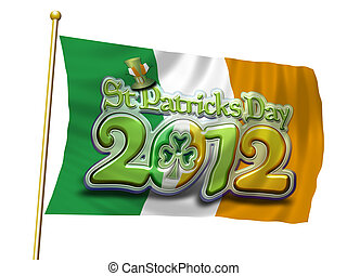 St Pats Flying Flag 2012