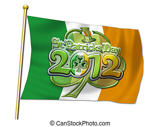 St Pats Graphic clover flag 2012