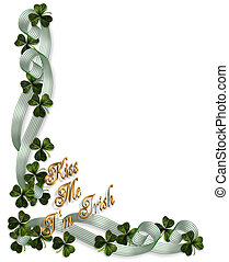 St Pattys Day Background Border