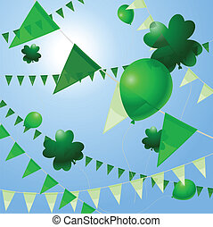 St. Patty's Day pennants