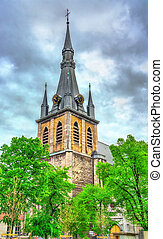 St. Paul Cathedral in Liege, Belgium - View of St. Paul's ...
