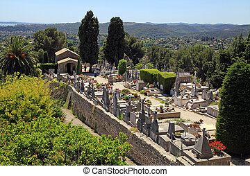 St. Paul de Vence cemetery, France - SAINT-PAUL-DE-VENCE,...