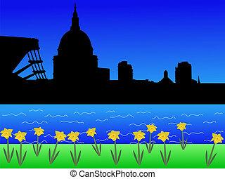 St Pauls and Millennium Bridge