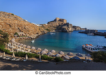 St Paul's Bay Beach in Lindos