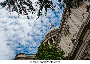 St Pauls Cathedral architecture details in London, United Kingdom