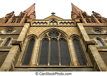 St Pauls Cathedral, Melbourne, Australia - The facade of St...