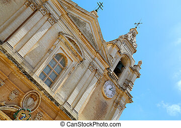 St. Pauls Cathedral - St. Pauls cathedral in Mdina, Malta.